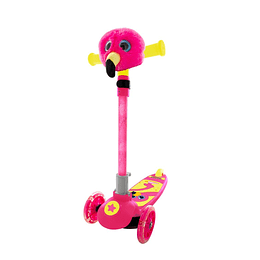 Scooter Peluche Flamenco 3 Ruedas con Luces