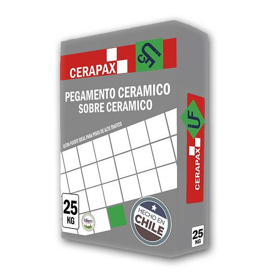 Adhesivo de Ceramico Sobre Ceramico Cerapax 25Kg
