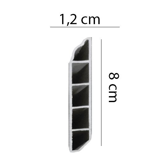 Guardapolvo de PVC 2400x80x12 Cod.YF60649 GUARDA