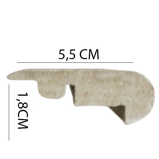 Nariz de Grada 2400x55x18 Cod.96885 NARIZ