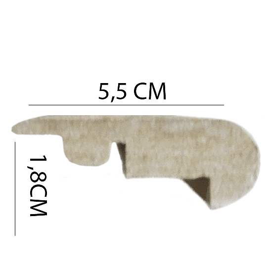 Nariz de Grada 2400x55x18 Cod.I018 NARIZ