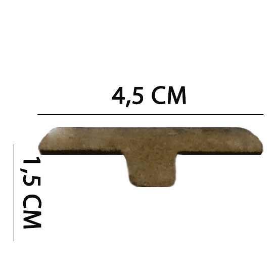 Cubrejuntas 2400x45x15 Cod. 63812
