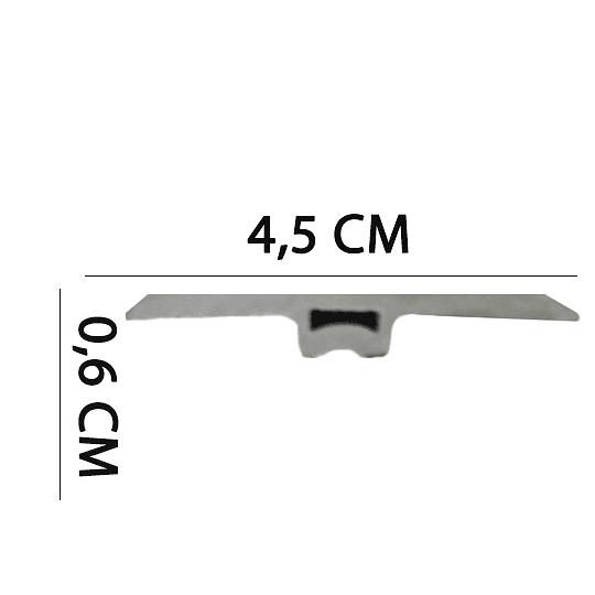 Cubrejuntas PVC 2400x45x6 Cod. WR70461