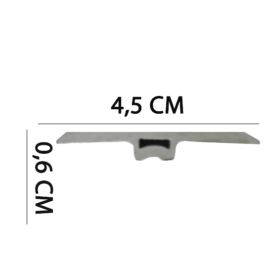 Cubrejuntas PVC 2400x45x6 Cod. YF2402