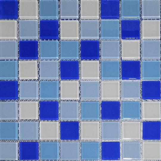 Malla de Mosaico de vidrio 30X30 4 mm Cod. GL4009 Caja Rinde 1.8 m2