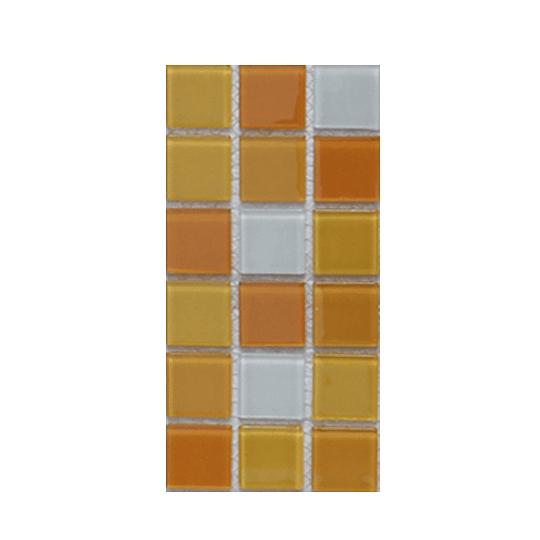 Malla de Mosaico de vidrio 30X30 4 mm Cod. GL4036 Caja Rinde 1.98 m2