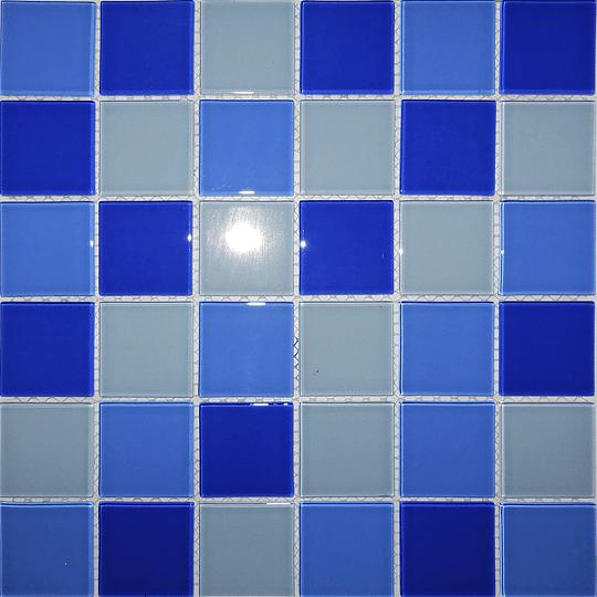 Malla de Mosaico de vidrio 30X30 4 mm Cod. GL4122 Caja Rinde 1.98 m2