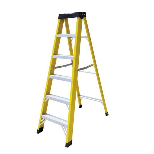 Escalera de Fibra tipo tijera 7 Peldaños Cod: LHBQ07