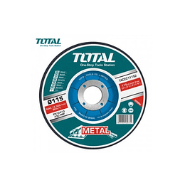 "DISCO CORTE METAL 5"" 1.2MM PACK 10UN TOTAL TAC2211253"