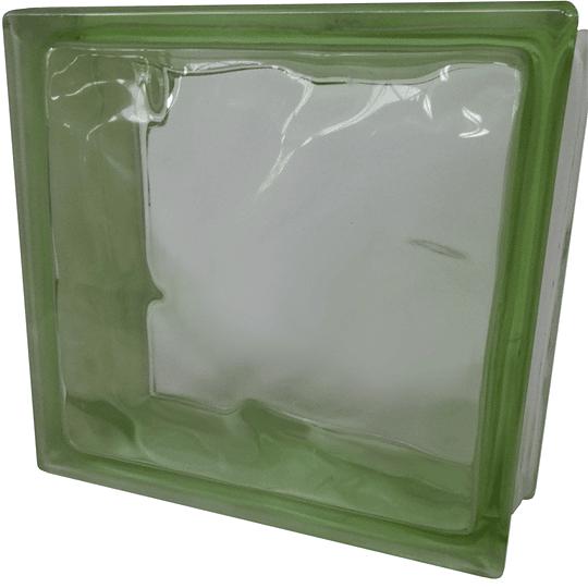 Block de Vidrio 19x19  Green Cloudy