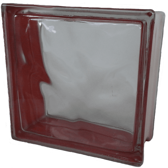 Block de Vidrio 19x19  Red Cloudy