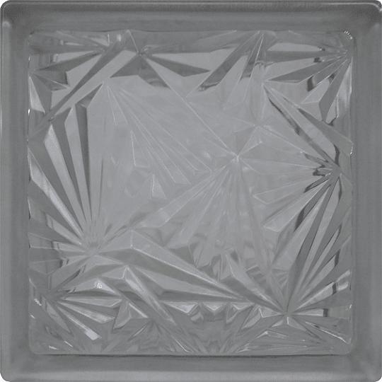 Block de Vidrio 19x19  Ice Flower Clear