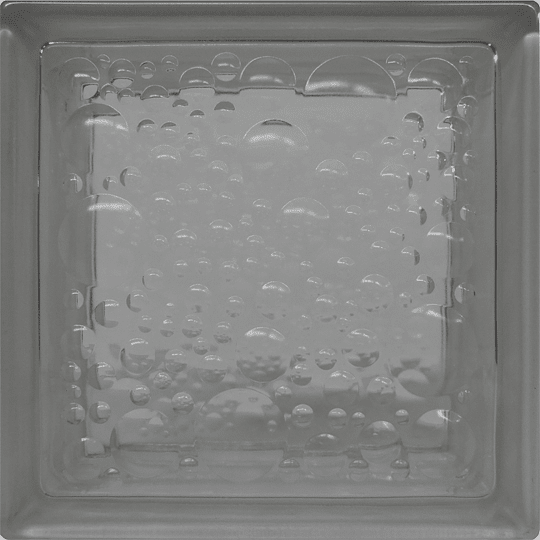 Block de Vidrio 19x19  WATER BUBBLE CLEAR