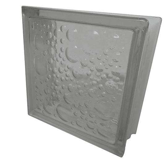 Block de Vidrio 19x19  WATER BUBBLE CLEAR