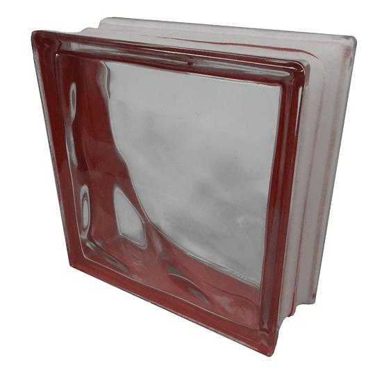 Block de Vidrio 19x19  RED SIDE CLOUDY