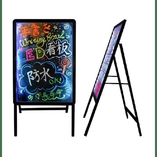 Pizarra Led Luminosa Personalizable 60x80 Cm + Atril DC y Recargable BN-3230