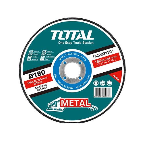DISCO DE DESBASTE DE METAL TOTAL 180 X 6mm  TAC2231801
