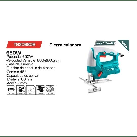 Sierra Caladora 650W TOTAL TS206806