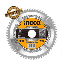Disco Sierra Circular De Mesa 10'' 254mm 60 Dientes Ingco TSB125423