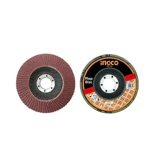 Disco Flap Grano N°80 115mm 4 1/2 Pulgadas Ingco Fd1153