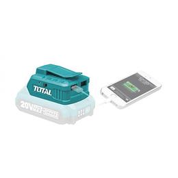 Cargador Puerto USB 20V TOTAL Batería de Litio TUCLI2001