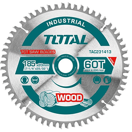 "Disco de sierra corte madera 7 1/4"" (185MMX30D) PACK 2UN TOTAL TAC231410"