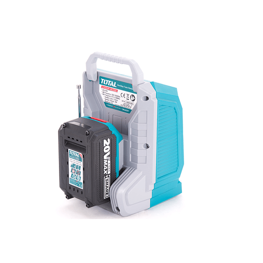 RADIO Y PARLANTE INÁLAMBRICO LITIO-ION 20V TOTAL TOOLS TJRLI2001