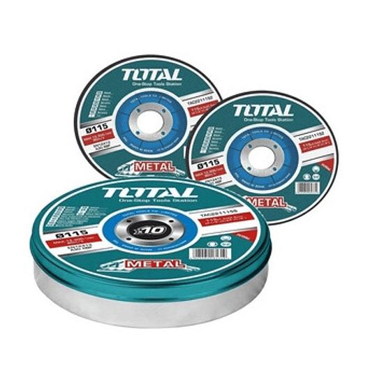 DISCO CORTE METAL 4 1/2 115mm x 1.2MM PACK 10UN Total TAC2211155