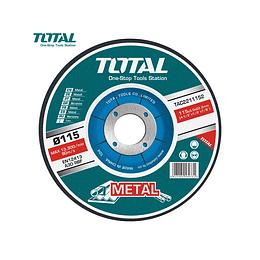 DISCO CORTE METAL 4½ X 1,2MM  PACK 1O UN TOTAL TAC2211151