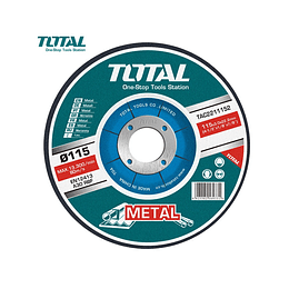 DISCO DE DESBASTE METAL 4½ (115X6.9X22.2 MM) TOTAL TOOLS TAC2231151