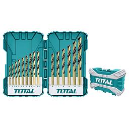 SET BROCAS PARA METAL, CONCRETO Y MADERA 16PCS. TOTAL TOOLS TACSDL51501
