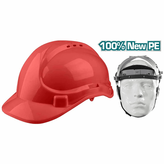 CASCO DE SEGURIDAD ROJO TOTAL TSP2611