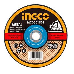 "DISCO CORTE METAL 7"" 180MM  X 1.6MM INGCO MCD301802"