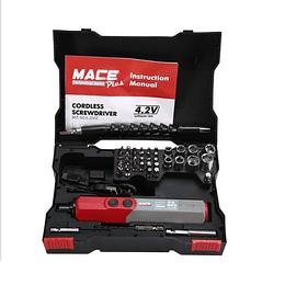 MINI ATORNILLADOR 46 PCS MULTIUSO RECARGABLE 4.2V MACE MT-SC4.2VZ