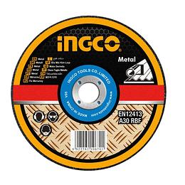 "DISCO CORTE METAL 9"" X 1.6MM CENTRO PLANO INGCO MCD302302"