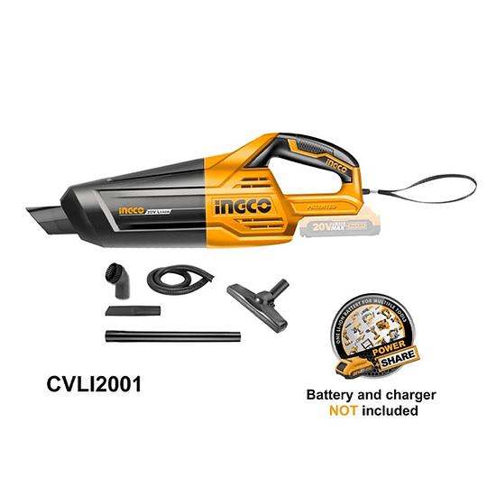 Aspiradora de mano 20V INGCO CVLI2001 No incluye: Batería ni cargador.