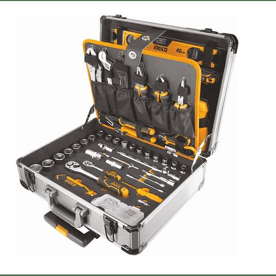 Caja de herramientas de 147 piezas Maleta de aluminio INGCO HKTHP21471