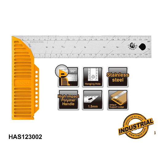 ESCUADRA ANGULAR  30CM INGCO HAS123002
