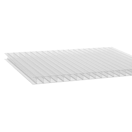 Policarbonato Alveolar 4mm  2.10m x 5.80m Transparente Cod: PLP04CLEAR