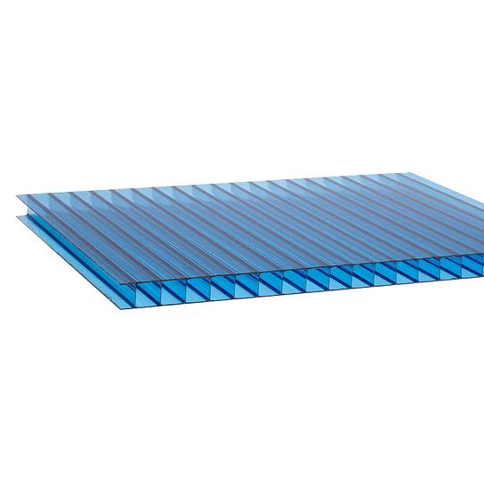 Policarbonato Alveolar 4mm  2.10m x 5.80m Azul Cod: PLP04BLUE