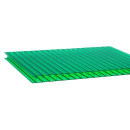 Policarbonato Alveolar 6mm  2.10m x 5.80m  Verde Cod: PLP06GREEN