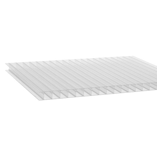 Policarbonato Alveolar 10mm  2.10m x 5.80m  Transparente Cod: PLP10CLEAR