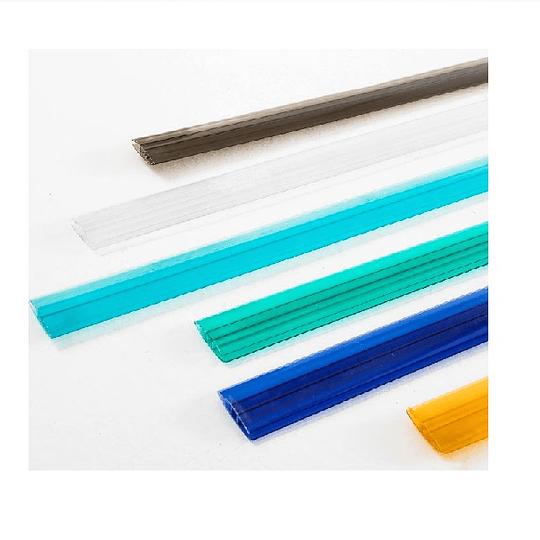Perfil conector H  de 10mm Color Azul