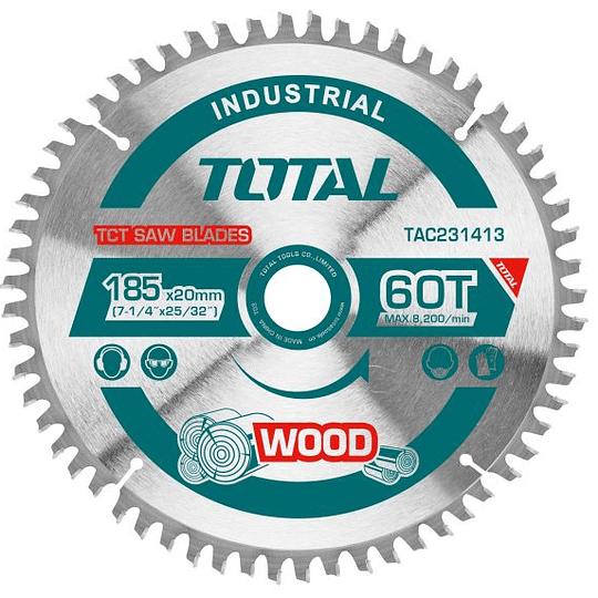 "Disco de sierra corte madera 7 1/4"" (185MMX60D) TOTAL TAC231413"