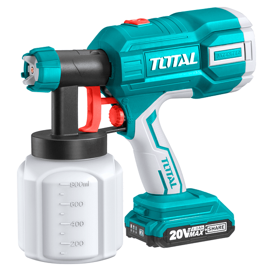 Pistola para pintar inalámbrica Litio-ion 20V TOTAL TSGLI2001 No incluye: Batería ni cargador.