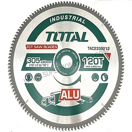 "Disco de sierra corte aluminio 16"" (305MMX120D) TOTAL TAC2339212"