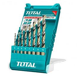 Juego Brocas x 8pcs P/ Metal HSS TOTAL TACSD0085