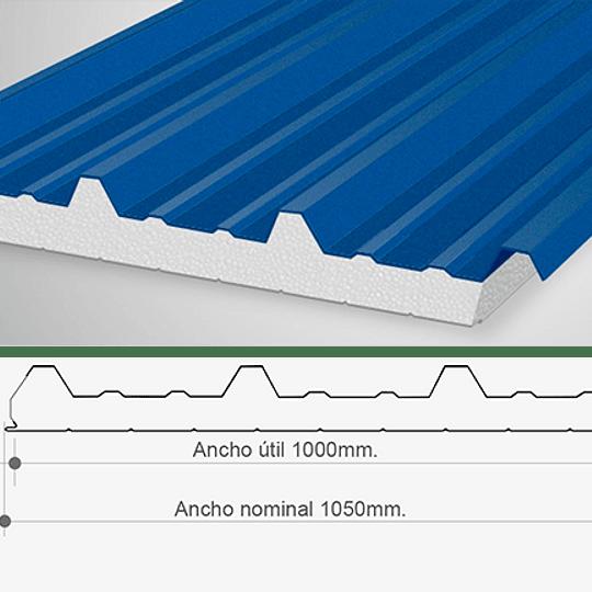 Panel Sandwich Aislapol 50mm para Techo 6mtr