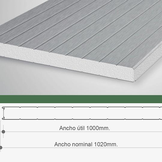Panel Sandwich Para Muro 1 x 2.4 Mtr x 50mm