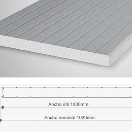 Panel Sandwich Para Muro 1 x 2.4 Mtr x 100mm